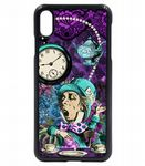 Vintage Retro Blues Licensed illustration Mad Hatter Wonderland Icons Mobile Phone Case Fits iPhone